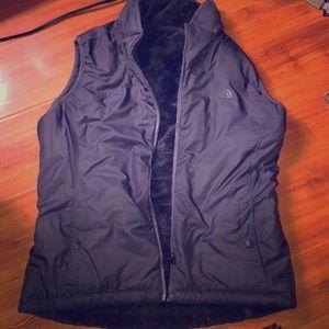 The north face reversible fleece vest